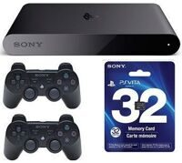 Sony PlayStation TV + 2 контроллера Sony DualShoсk 3 + PS Vita Memory Card 32GB + 3 игры