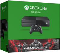 Microsoft Xbox One (500GB) + игра Gears of War: Ultimate Edition