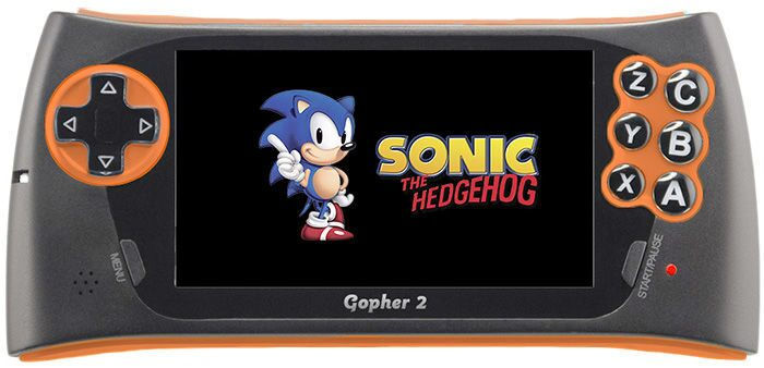 """SEGA Genesis Gopher 2 LCD 4.3"""" + 500 игр (оранжевая)"""
