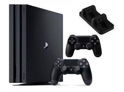 Sony Computer Entertainment Sony PlayStation 4 Pro (1TB) (CUH-7116B) + 2 контроллера + док-станция на 2 контроллера