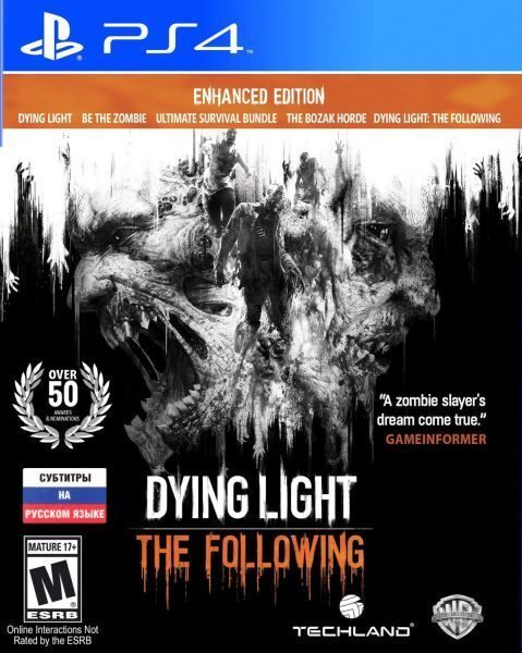 WB Games Игра Dying Light: The Following Enhanced Edition (PS4, русская версия)