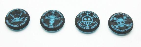 "4 накладки на стики ""Skulls"" для контроллера/геймпада (чёрно-синие)"