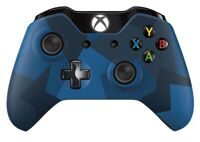 Геймпад Microsoft Xbox One Wireless Controller (синий камуфляж) (XBOX One)