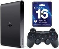 Sony PlayStation TV + контроллер Sony DualShoсk 3 + PS Vita Memory Card 16GB + 3 игры